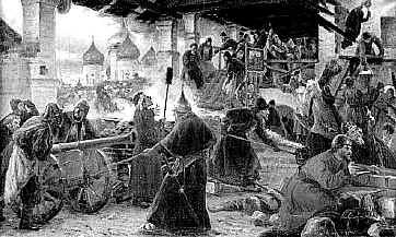Осада Троице-Сергиевой Лавры в Смутное время. Худ. Милорадович. 1894г.