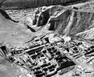 Руины Хирбет-Кумрана,  где жили ессеи